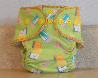 Fitted Preemie Newborn Cloth Diaper- 4 to 9 pounds- Baby Items- 16053