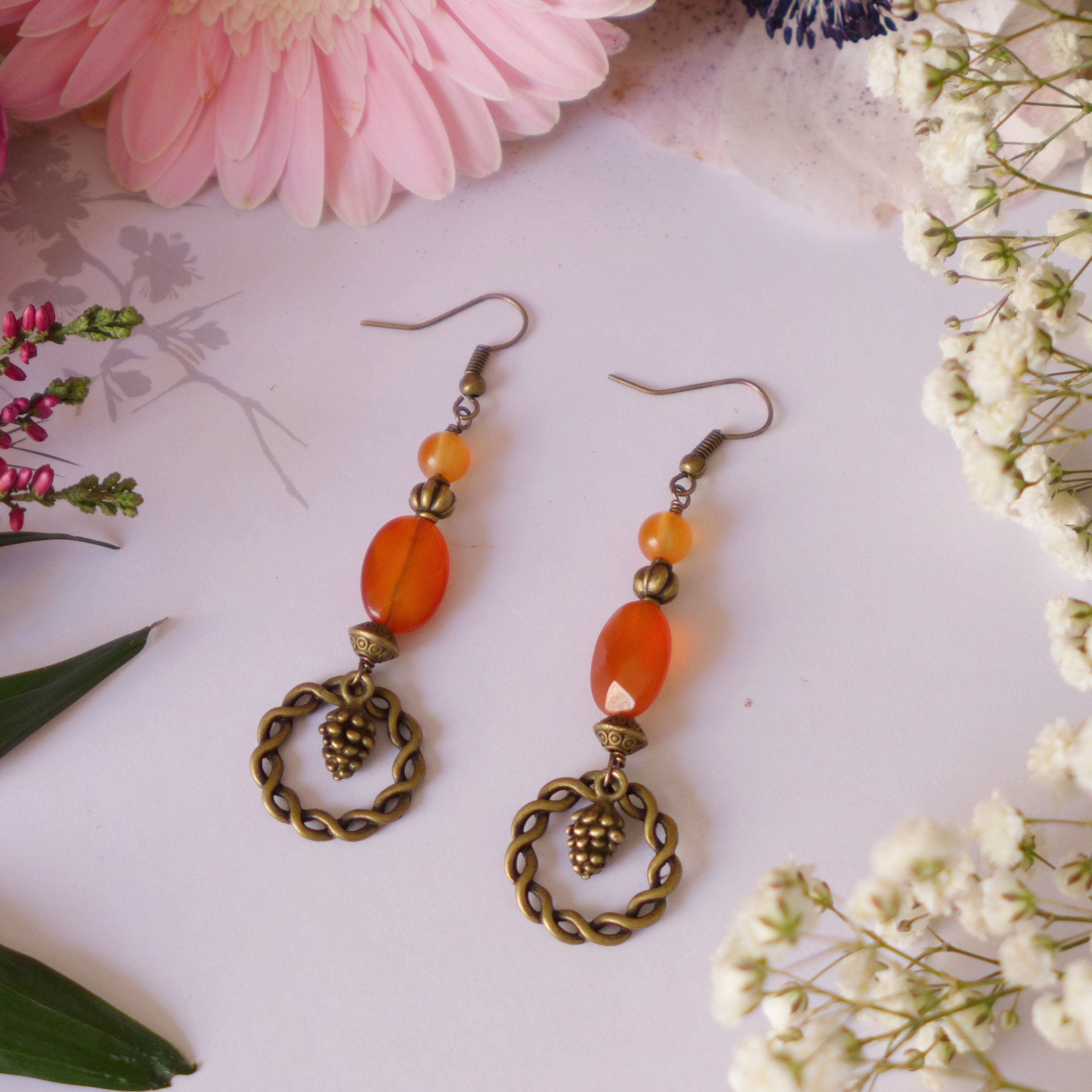 listing orange collection fiery il earrings textured gallery fullxfull photo athena carnelian