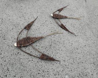 Pair of willow swallows, a beautiful natural wall hanging