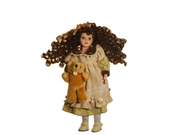 """Vintage Germany Dolls 17"""" Bears Clothes Accessories Girl Walking Toys Collectibles Art Dolls 1970s"""