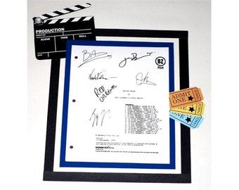 Moulin Rouge Movie Script Signed Screenplay Autographed: Baz Lehrman, Nicole Kidman, Ewan McGregor, Jim Broadbent, John Leguizamo