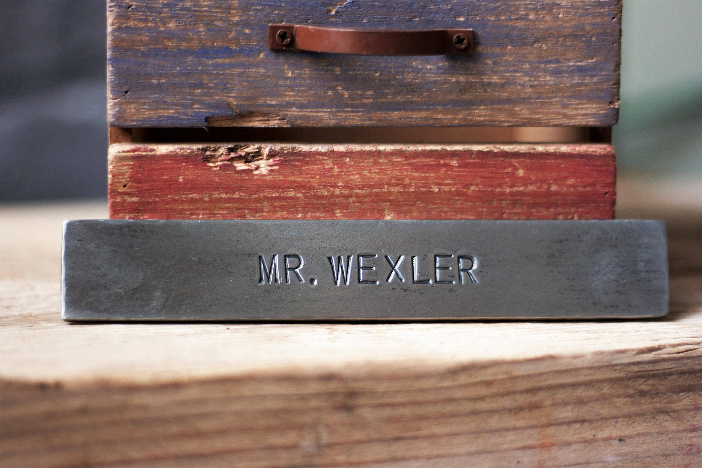 Wonderful METAL WALL SIGN personalized steel name plate hand stamped steel  UY22