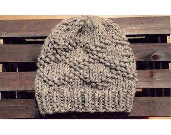 Bulky Etta Hat-Oatmeal (Ready To Ship)