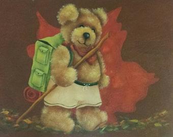 "Decorative Painting Pattern Packet ""Hiking Bear"""