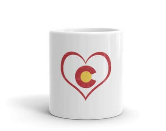 Colorado Heart Love Rocky Mountains Coffee Tea Mug