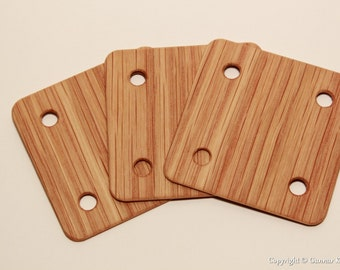 Tablet weaving cards - Oak 6*6cm - Card weaving cards. Ancient medieval viking art weaving loom craft work SCA