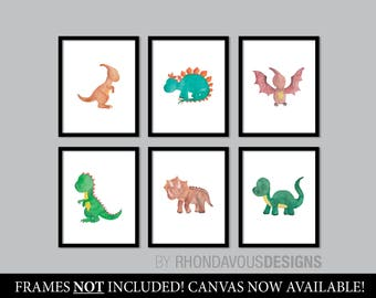 Dinosaur Decor. Dinosaur Gifts. Baby Boy Nursery Art. Dinosaur Nursery Art. Dinosaur Nursery Decor. Boy Bedroom Art. Dinosaur Art. NS-876