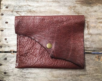 Christmas gift for her // Simple leather clutch purse // Gift for mom, wife, girlfriend