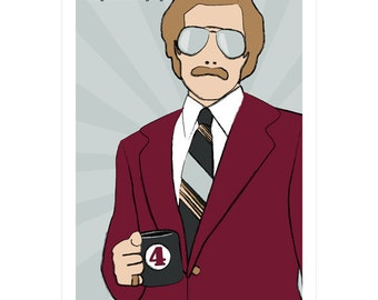 Film poster Anchorman movie print in various sizes