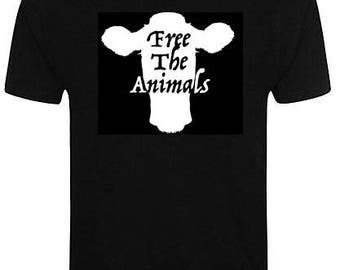 Vegan Free The Animals Organic T-Shirt
