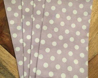 Purple with white polka dots napkins-Set of 2 or 4