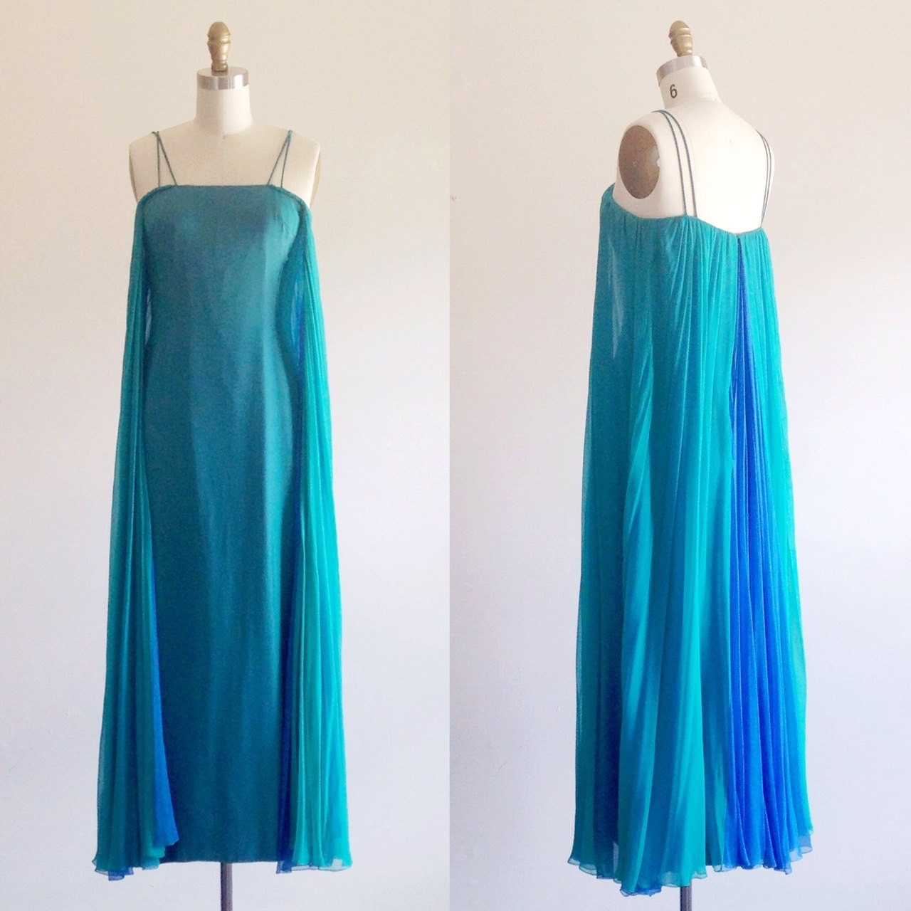 Teal formal dress Teal prom dress Event gown Formal gown