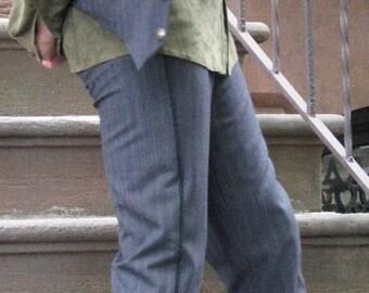 Tapered Leg Tuxedo Trousers