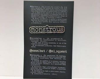 Monstrous - soft enamel pin