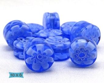 Genuine Venetian Glass Millefiore Artisan Beads – 1 Pc   31-MFL106-1