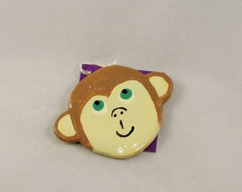 Monkey Face Ornament