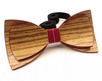 Beautiful Wood Bow Tie 0012