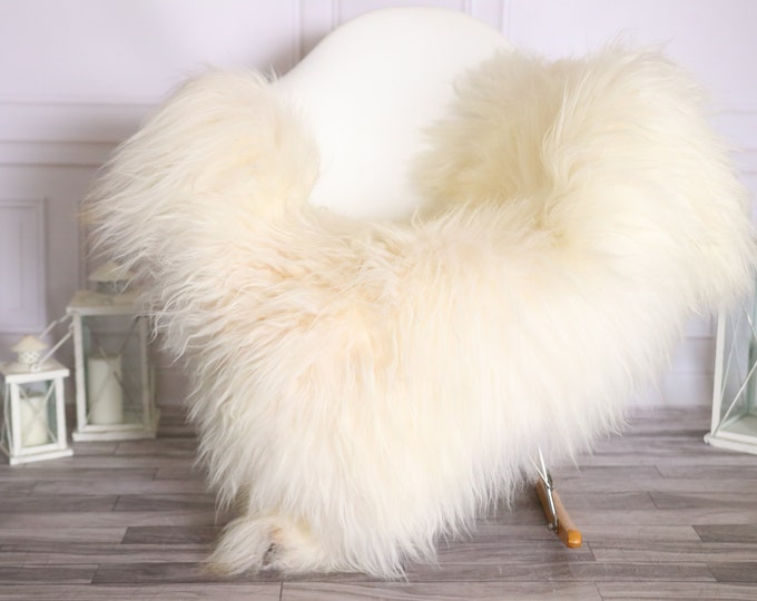 Icelandic Sheepskin | Real Sheepskin Rug |  Super Large Sheepskin Rug Ivory | Fur Rug | Homedecor #MIHISL32