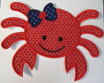 Iron On Applique -  Girl Crab 112345