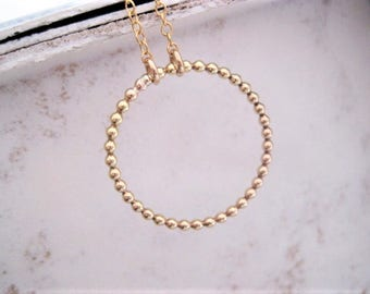 Simple . Hoop . Karma Infinity Necklace. Gold Filled