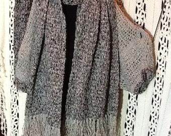 Large Crochet coat ,scarves,Med to large,original design