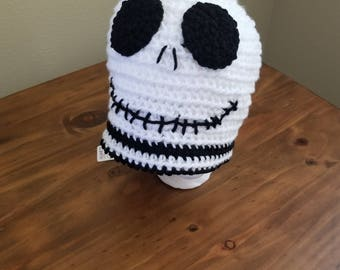Jack Skellington Baby Beanie Hats Pacifier Pods Ready 2 Ship