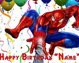 Spiderman Party  Edible Cake Topper Edible  Frosting Sheet - Quarter , Half , Round , Strips  Sheet Sizes