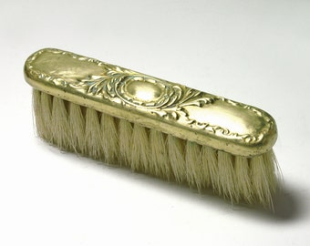 Vintage Art Nouveau Brass Hat Brush - circa 1910