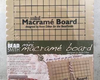 Foam Mini Macrame Board - Friendship Bracelet - Macrame - Stringing - Bracelet Board - Braiding Board - Bracelet Supplies
