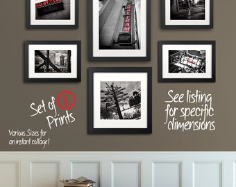Portland Photography Print Set | Go By Signs | Black and White Assortment