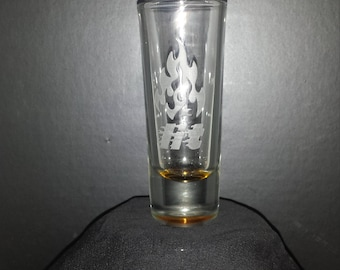 Etched 2 oz. Tall Shot Glass