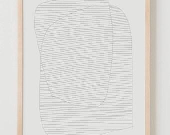 Fine Art Print.  Stripe Study August 7, 2017.