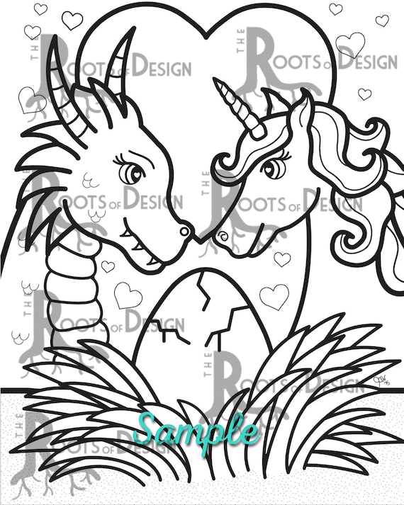 INSTANT DOWNLOAD Coloring Page