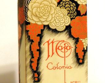 Vintage Perfume 1950s Maja by Myrurgia 4 oz Eau de Cologne Colonia Empty Box No Bottle