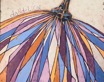 Dandelion Seed | 48″ x 60″ | Acrylic on Canvas | Painting | Artwork