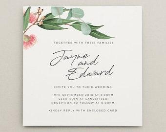 NATIVE   wedding invitation   professionally printed wedding invitations
