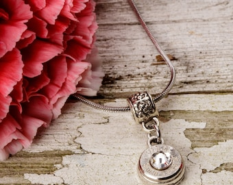 Bullet Casing Jewelry - Simple 40 Bullet Shell / Bullet Necklace