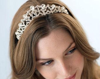 Crystal Bridal Crown, Bridal Hair Accessory, Princess Crown, Crystal Bridal Tiara, Rhinestone Wedding Tiara, Vintage Wedding Crown ~TI-3138