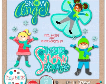 Let it Snow Cutting Files & Clip Art - Instant Download