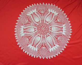 Crocheted Doily--Nature's Bounty