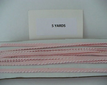 5 Yards Pink Cotton Piping