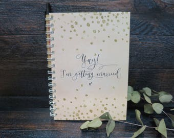 Blush & Gold Confetti Wedding Note Book | Gift For Bride | Couple Gift | Engagement Gift | Wedding Planner Book | Australia Seller