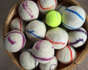Alpaca Wool Dryer Balls All Natural Handmade in USA Eco friendly locally sourced ethically raised wool
