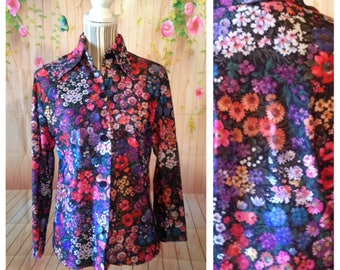 Vintage Queens Way Floral Blouse