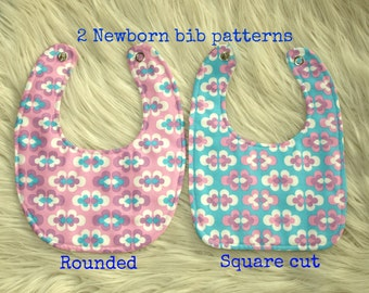 Newborn bib pattern (S128), Baby pattern, Baby bibs, Baby patterns sewing, Bib sewing pattern, Infant bib pattern