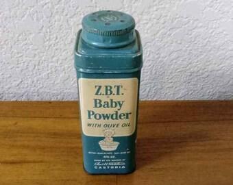 Vintage ZBT Baby Powder Tin