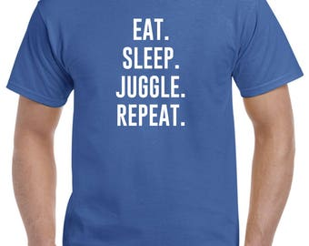Eat Sleep Juggle Repeat Juggling Shirt Juggler Gift