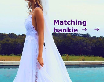 Unconditional Love, Bridal Hankie coordinates with Grace Loves Lace Gowns, Embroidery lace handkerchief for family, BFF and your loved ones