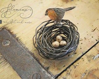 bird nest, wire bird nest, homedecor, wire sculpture, handmade craft