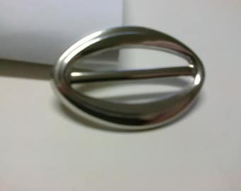 Silver passage 4.cm brass oval buckle * BO53 *.